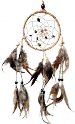 DREAMCATCHER HEMP CORD-WITH CHIPS STONE SPIRAL