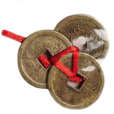 amulet moneda ching con lazo