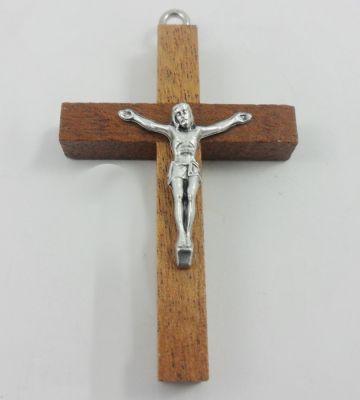 Cruz madera con Cristu 9cm
