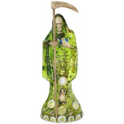 Imagen Santa Muerte C: Monedas 30 cm. (Transparente Verde)