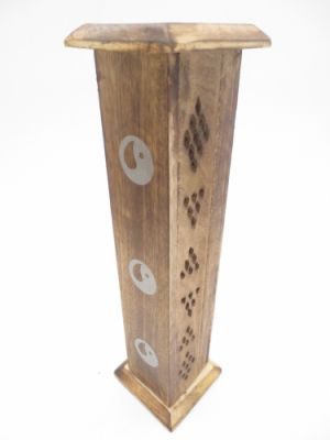 Wierook Toren Kistjes Antiek Hout Yin Yang
