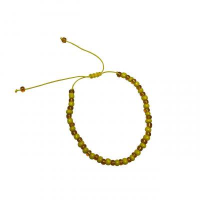Armband geel bros kralen