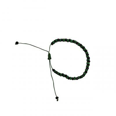 Armband groen zwart kralen