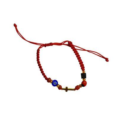 bracelet azabache turkish eye peony cross kid005