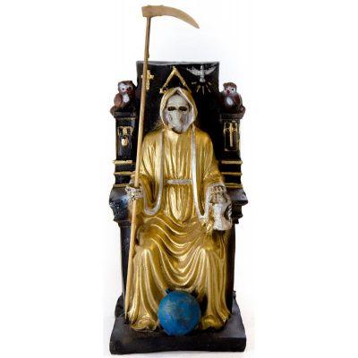 Imagen Santa Muerte sobre Trono Imperial 22 cm (Dorada)