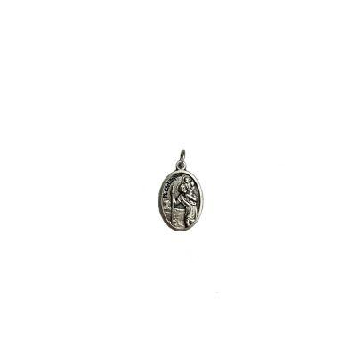 keychain zilver christoffel ovaal