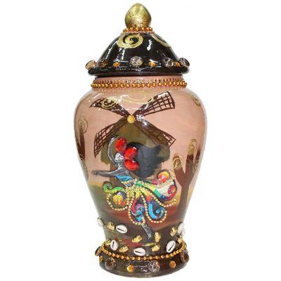 Tibor Ceramica Decorado Dibujo Oya Mol
